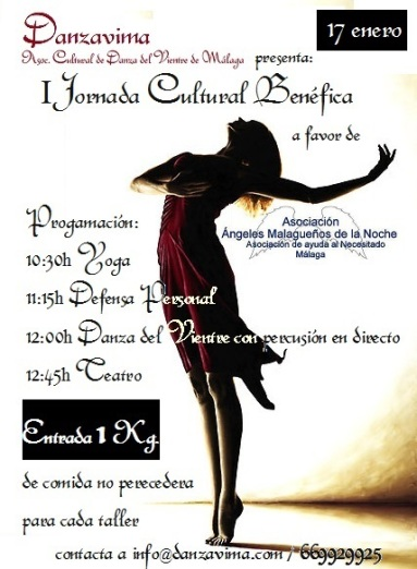 cartel Ijornada benefica danzavima